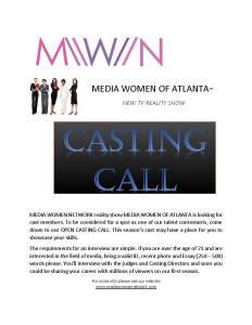 MEDIA WOMEN OF ATLANTA REALITY TV SHOW